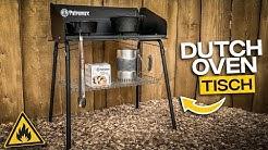 Feuertopf Tisch fe90 für den Dutch Oven  Petromax fe90 für die Gartenküche