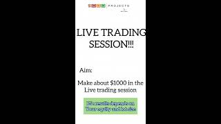 FREE LIVE FOREX TRADING SESSION ( PROJECT 1000 ). Secrets on how to Make money in forex