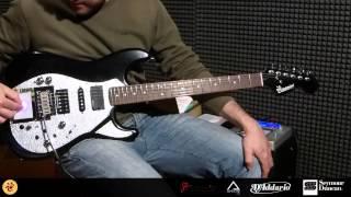Kaoss pad guitar - audio test - sustainer - fuzz factory - midi xy pad