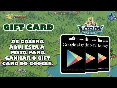 PISTA PARA VOCE GANHAR O GIFT CARD - LORDS MOBILE