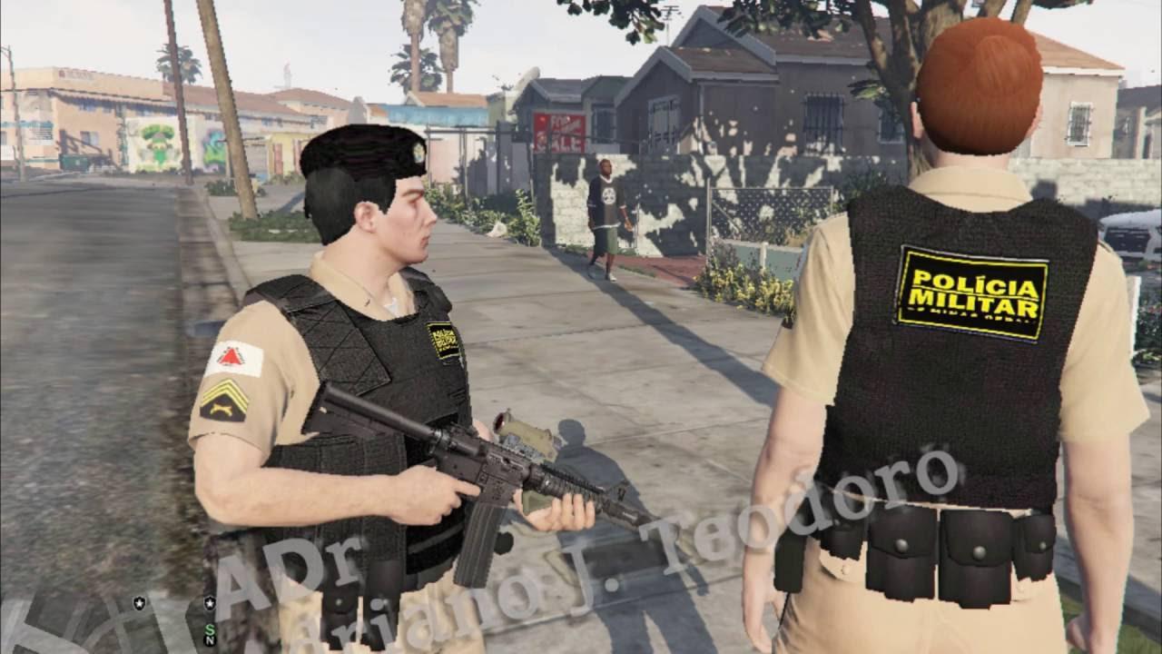 a596f2785 Polícia Militar de Minas Gerais Uniforms (Male and Female) GTA V - YouTube