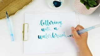 Video How to Use a Waterbrush for Handlettering | Pentel Aquash Waterbrush Tutorial download MP3, 3GP, MP4, WEBM, AVI, FLV Agustus 2018