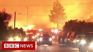 'Firenado' rages in southern California - BBC News