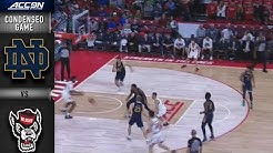 Notre Dame vs. North Carolina State Condensed Game | 2019-20 ACC Men's Basketball