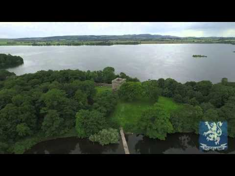 Mary Queen of Scots prison tower - Loch Leven - Kinross Scotland