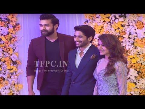 Hero Varun Tej @ Chay Sam Wedding Reception | Naga Chaitanya, Samantha | TFPC