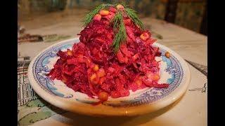 Полезный ужин  Салат из свежей свеклы и моркови
