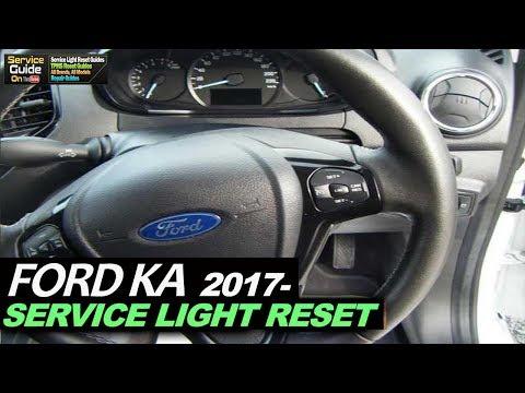 FORD KA 2017- Service Light Reset & Oil Life