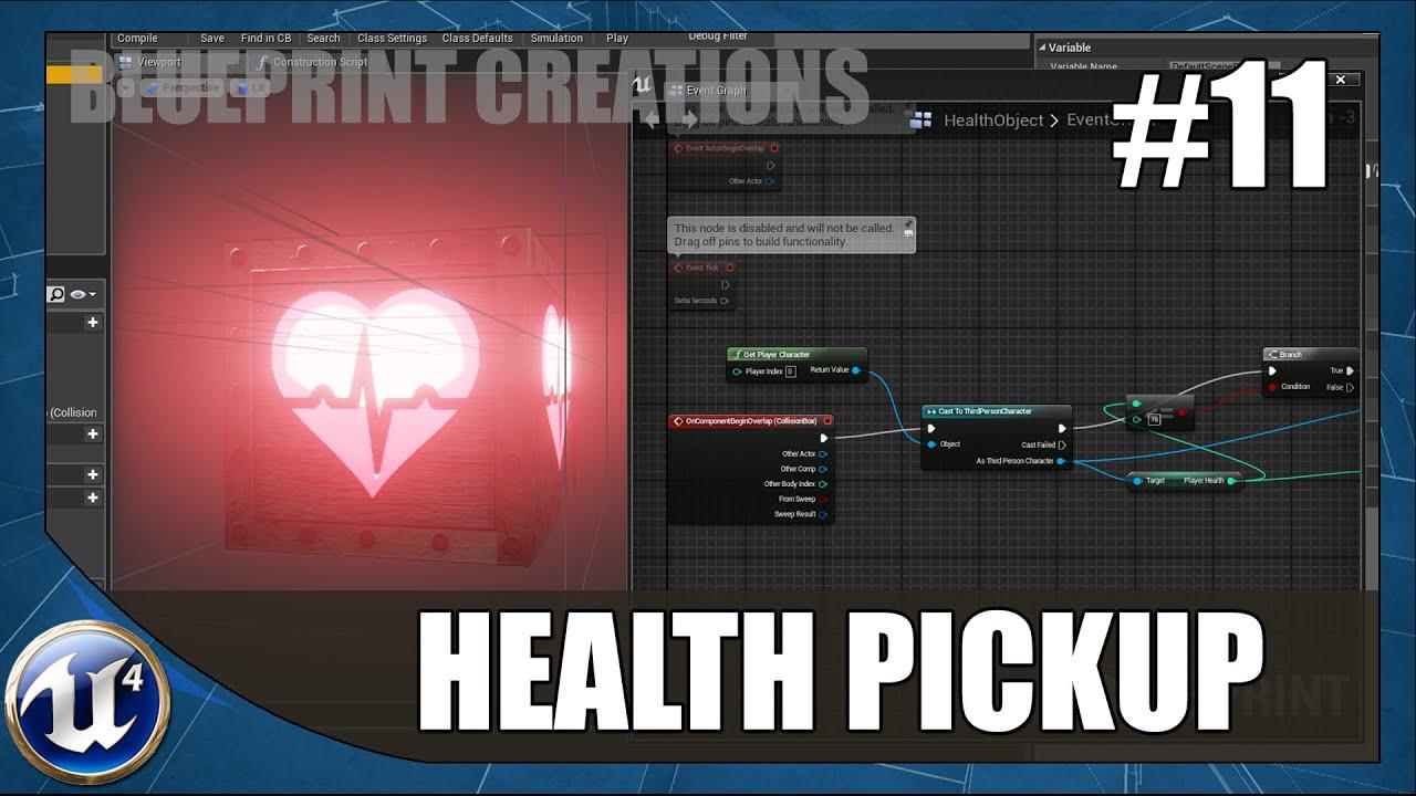 Player health pickup 11 unreal engine 4 blueprint creations player health pickup 11 unreal engine 4 blueprint creations tutorial youtube malvernweather Gallery