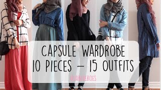 Download CAPSULE WARDROBE! 10 PIECES - 15 OUTFITS | HijabiHeroes Mp3 and Videos