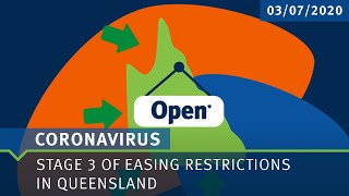 COVID-19: Stage 3 Easing Restrictions in Queensland - 03/07/2020