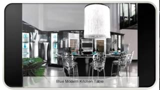 Blue Modern Kitchen Table