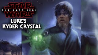 Star Wars The Last Jedi Luke Skywalker's Kyber Crystal! New Details