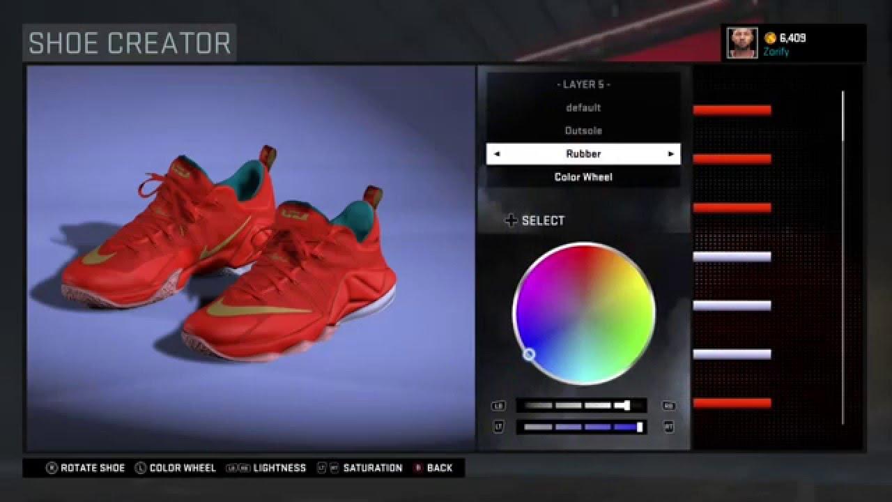 c9158c492722 NBA 2K16 Shoe Creator - Nike LeBron 12 Low