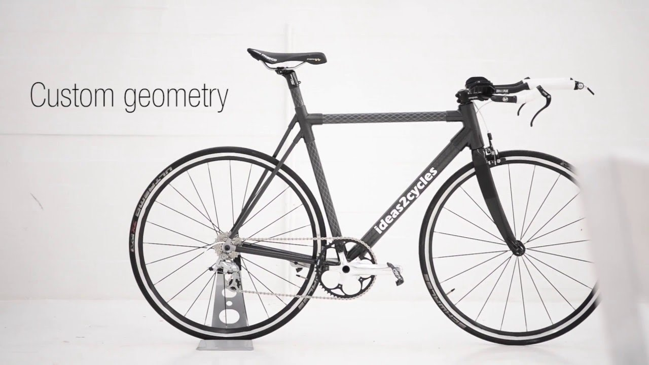 Custom carbon fiber bicycle frame using carbon lugs - YouTube