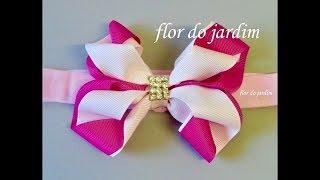 Laço Isadora de fita de gorgurão -Ribbon bow