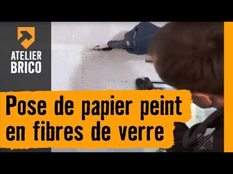 pose de papier peint en fibres de verre atelier brico hornbach youtube. Black Bedroom Furniture Sets. Home Design Ideas