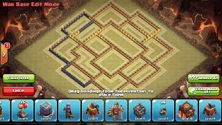 Best New War Base th9.5 275 Walls / Base Guerra cv9.5 Clash Of Clans