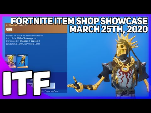Fortnite Item Shop *NEW* ORO SET + CHALLENGES! [March 25th, 2020] (Fortnite Battle Royale)