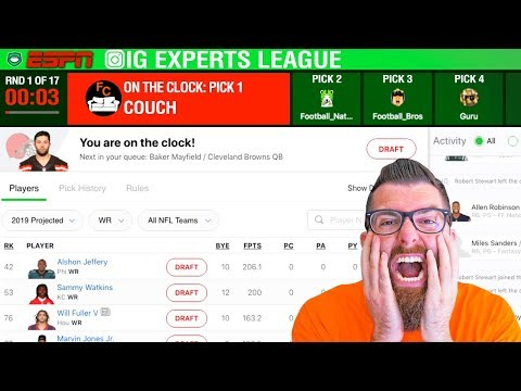 ESPN Fantasy Football Draft 2019 (IG Experts League)