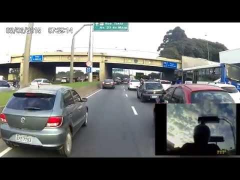 """Guarulhos """"Centro""""- São Paulo """"Bom Retiro"""" Dual Cam 06/07/2015 - Comet 250"""