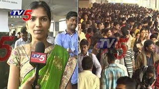 Huge Rush at Bus Stands and Railway Stations | Sankranti 2018 | TV5 News