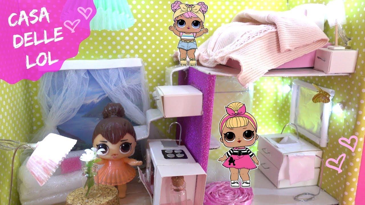 Costruisco Una Casa Delle Lol Surprise Diy Lol Doll House Youtube