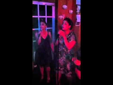Mandy and annette karaoke in pr 1