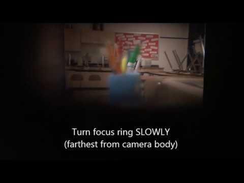 Focusing your 35 mm Camera