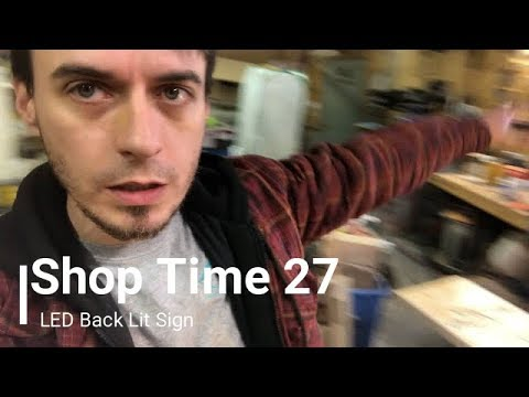 LED Backlit sign - Shop Time 27