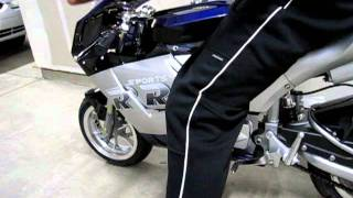 How to shift on a x18 super pocket bike motorcycle shifting tutorial