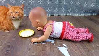 Куклы Пупсики НЕ ПЕЙ ЭТО МОЛОКО Аннабель Ползает Учится Ходить Игрушки Для Девочек