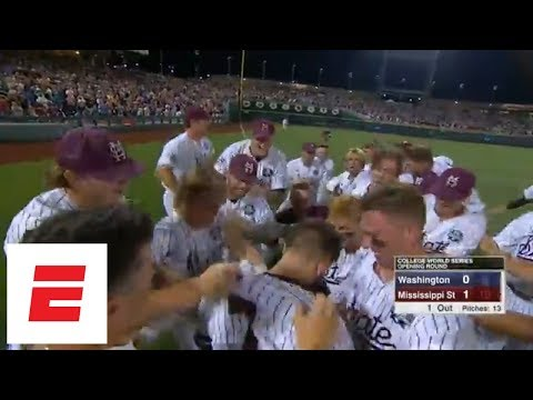Mississippi State walks-off in the 9th against Washington in College Baseball World Series | ESPN