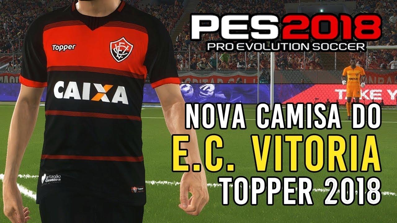 PES 2018  nova camisa do Vitória  download PC e PS4  - YouTube 7090ddfa51447