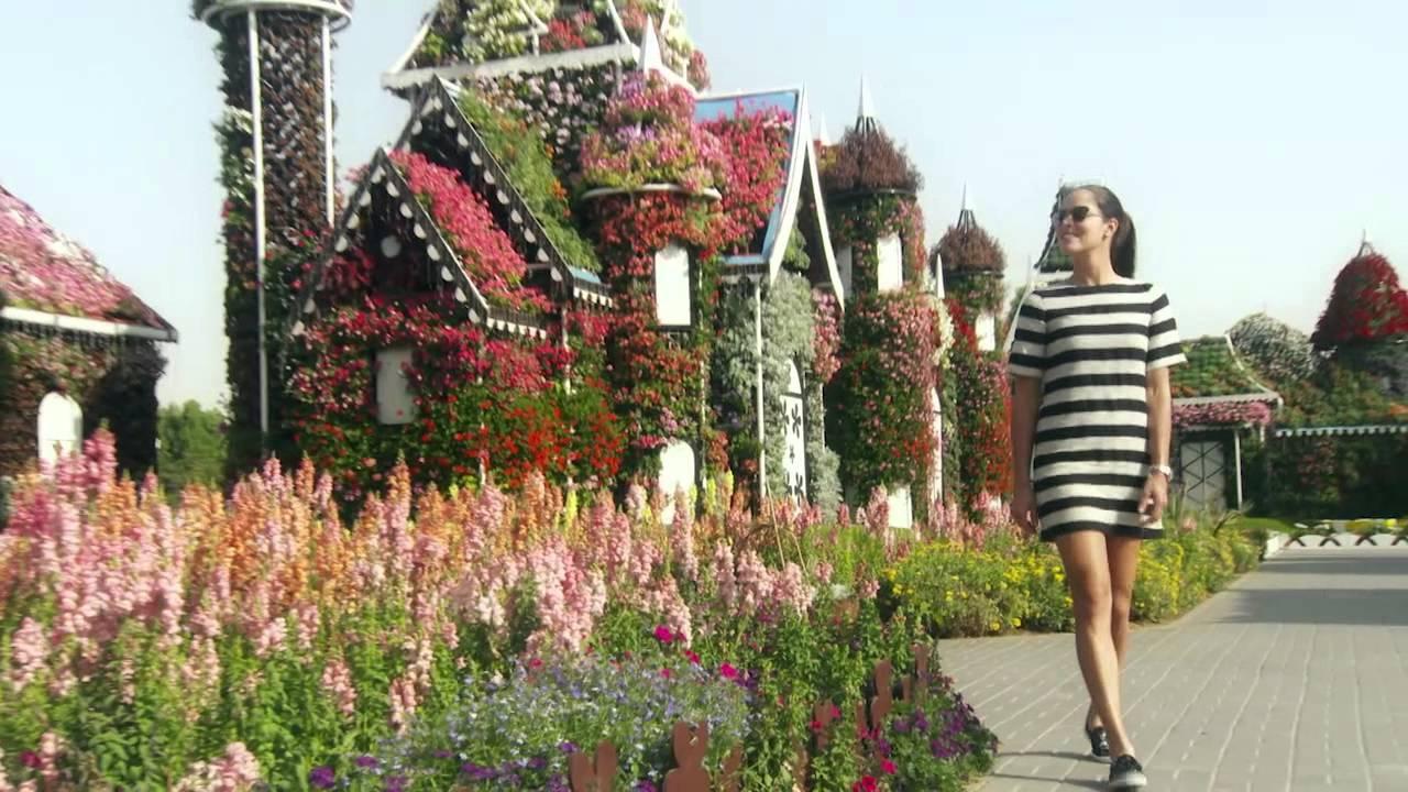 Ana Ivanovic Blooms In Dubai Miracle Garden - YouTube
