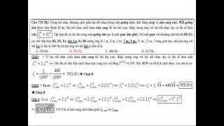 Đáp án chi tiết đề thi đại học môn vật lý 2014