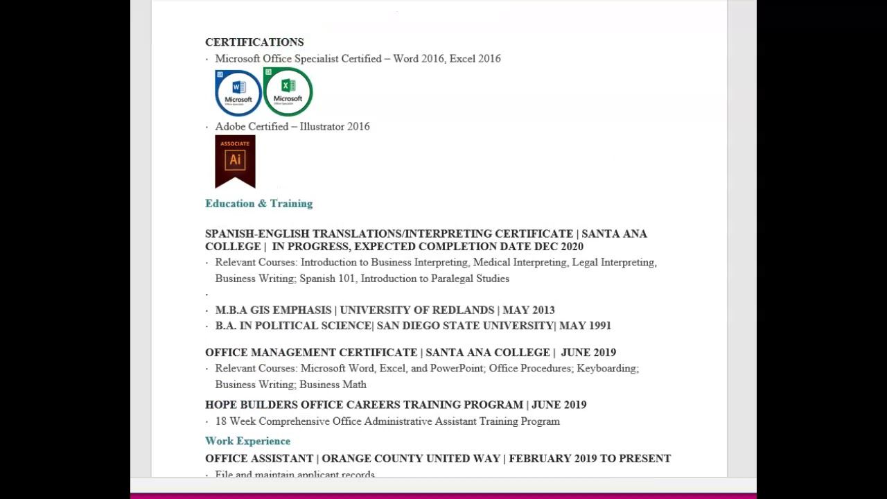 Resume And Cover Letter Do S And Don Ts Youtube