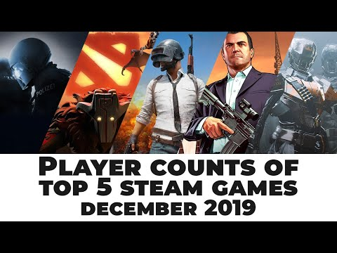Player Counts Of Top 5 Steam Games | December 2019
