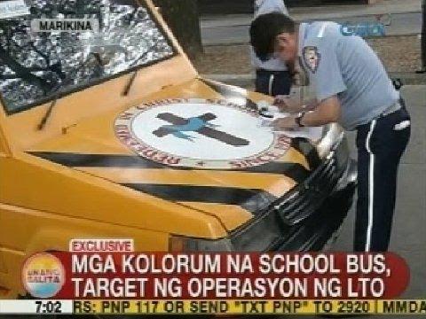 UB: Mga kolorum na school bus, target ng operasyon ng LTO