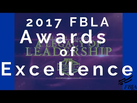 2017 FBLA NLC - Awards Of Excellence Ceremony