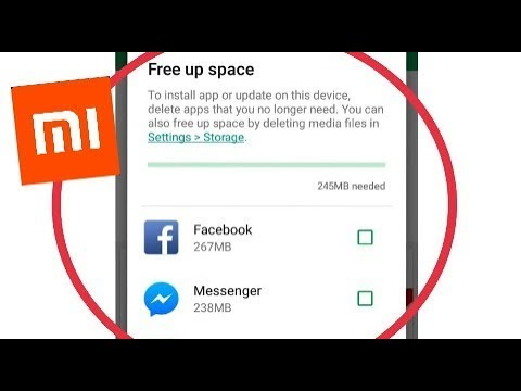 Redmi || Google Play Store Free Up Space Problem