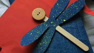 Make A Cute Popsicle Stick Dragonfly - Diy Crafts - Guidecentral