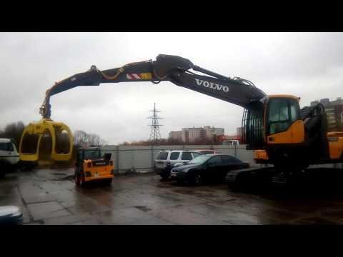 Переоборудованный VOLVO EC220DL в перегружатель леса