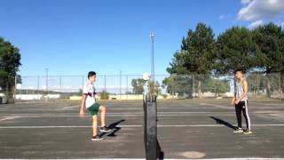 Soccer tennis and crossbar challenge