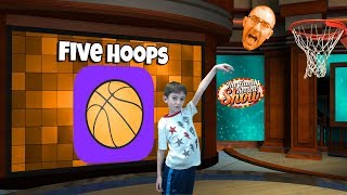 Five Hoops Gameplay and Review 🏀 (iOS and Android Game)