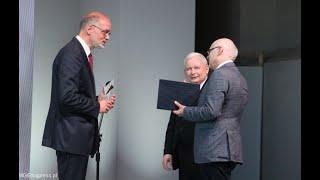 IX Kongres PWP 2019 - Nagroda im. Prezydenta RP Lecha Kaczyńskiego dla prof. Andrzeja Nowaka