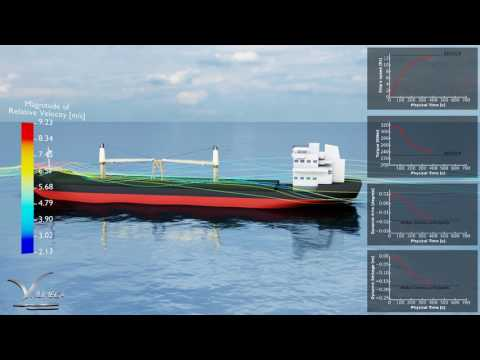 NUMECA - Full-scale self-propulsion simulation performed with FINE™/Marine