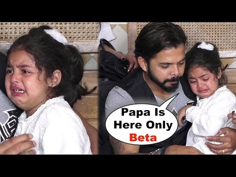 Sreesanth CONSOLES Crying Daughter Sanvika At Event