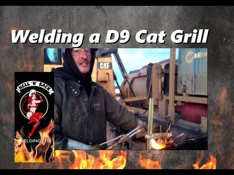 Welding a Broken Grill on a D9 Cat in the Frozen Canadian North