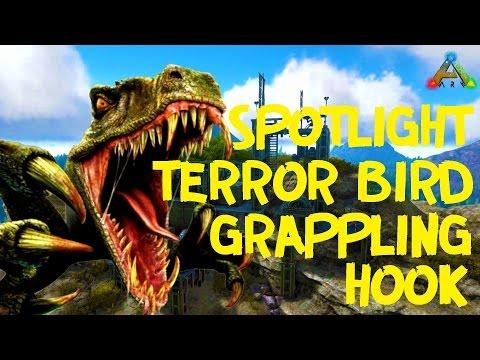 ARK Survival Evolved - Spotlight TERROR BIRD + Grappling HOOK